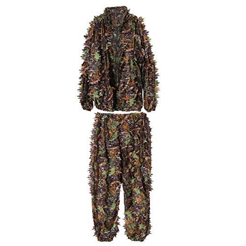 KESYOO 1 St Blad Camouflage Pak 3D Hooded Ghillie Camo Jacht Pak Jungle Doek Bos Camo Pak Voor Jacht Buiten