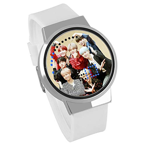 Bigbigtree BTS Relojes de Pulsera Pantalla táctil Relojes de Pulsera LED Moda Creativo Impermeable,5W