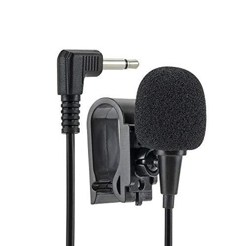 Shoppy Lab Microfono Esterno Plug And Play Con Jack Da 3,5mm E Clip Cavo Da 3 Metri Per Autoradio Con Supporto Adesivo E Spugna