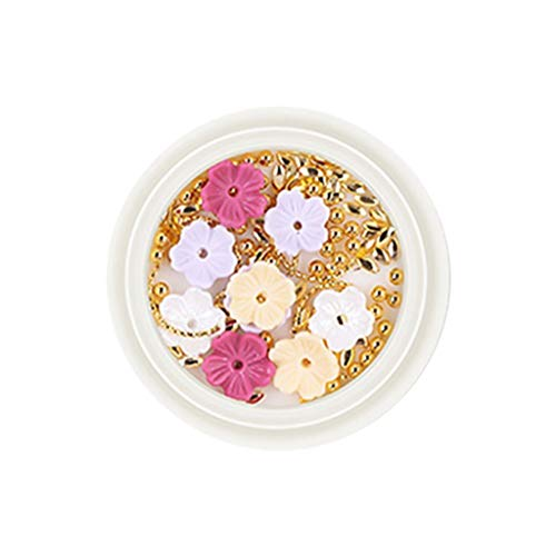 jieGorge Nail Three Petal Flower Flat Bottom Water Drill Mixed Nail Paste Decoration, Nail Art, Health and Beauty Products (D)