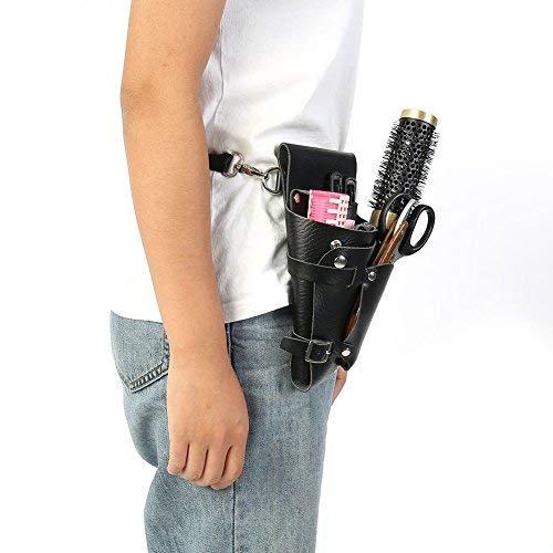 Borsello professionale portatile per parrucchiere e barbiere, con cintura, ideale per forbici e pettine
