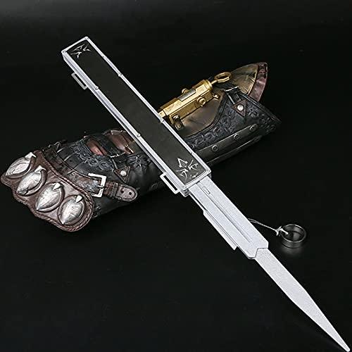 Assassin'S Creed Accesorios de Armas de Juego de rol de Cuchillas Ocultas Cuerda de tracción de Control de Tres Secciones de una Sola línea, Hoja Oculta, Accesorios Cosplay