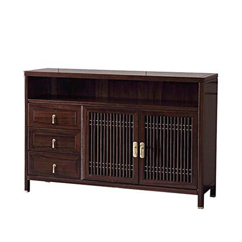 COUYY Todo Aparador de Madera Maciza Zen Dormitorio TV Gabinete Moderna Minimalista de Almacenamiento del gabinete de Cocina Muebles de ébano
