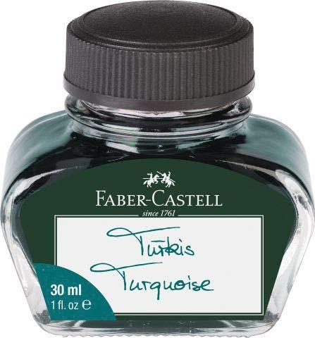 Faber-Castell - Vaso de tinta, color turquesa Tintenglas 30 ml