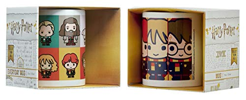 Harry Potter Chibi - Tazza da 325 ml, in confezione regalo, ideale come regalo di Babbo Natale...