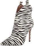 Jessica Simpson Women's Pixillez Fashion Boot, White/Black Zebra, 12