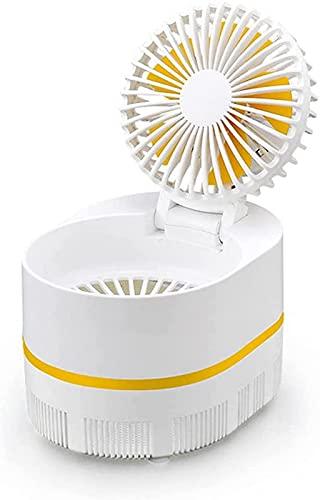 Lámpara 2 En 1 para Matar Mosquitos, Ventilador De Escritorio, Luz De Trampa De Fotocatalizador De Mosquitos Eléctrico USB para Acampar, Dormitorio, Cocina, Oficina, Hogar (Verde)