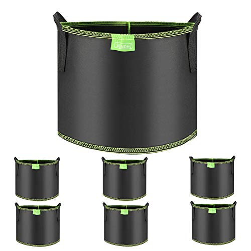 SUNDEE 6-Pack 1 Gallon Grow Bags with Handles, Black Heavy Duty Nonwoven Aeration Plant Fabric Pots for Potato, Carrot, Tomato, Home, Garden
