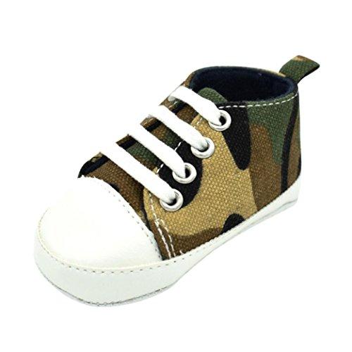 Babyschuhe Longra Baby Mädchen Jungen Lauflernschuhe Camouflage Sneaker Anti-Rutsch Soft Sole Kleinkind Segeltuch-Schuhe Krabbelschuhe (0~18 Monate) (13CM 6-12Monate, Camouflage)