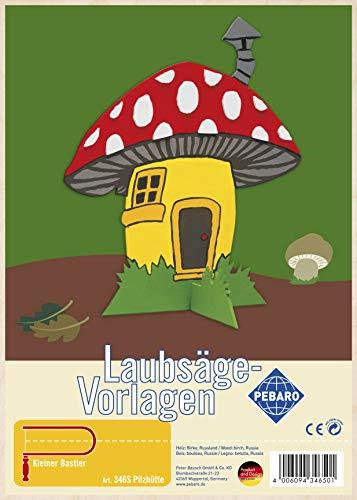 Pebaro Laubsägevorlagen, Motiv Pilzhäuschen, holzfarben, din a4, 346S