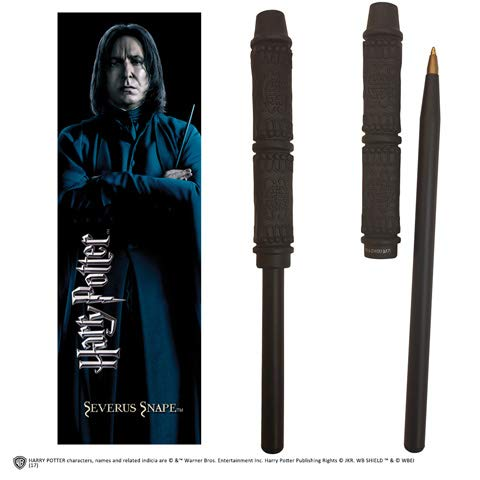 Noble Collection - Penna Bacchetta di Severus Piton e Segnalibro - Harry Potter NN7990