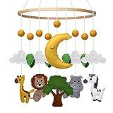 ENGEL + PIRATEN Baby Mobile mit Tieren aus Filz Safari Jungle Babyzimmer Dekoration