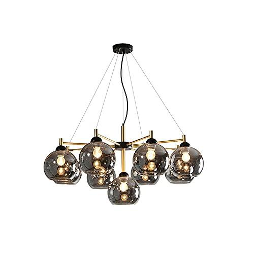 Illuminazione pendente in sospensione coperta Soggiorno Lampadario semplice atmosfera creativa della luce della lampada di vetro stravagante sala da pranzo camera lampada dietro moderne lampade Nordic