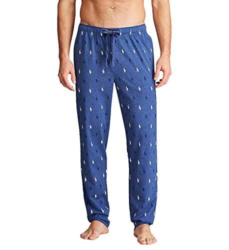 Polo Ralph Lauren Classic Knit Lounge Pants, L, Derby Blue Heather