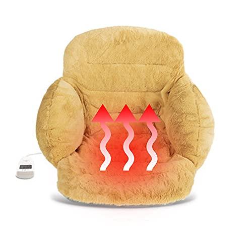 LWKBE Oficina de cojín de Lujo con calefacción Almohada cómoda y cálida, cojín de sofá de Peluche para decoración del hogar,Amarillo