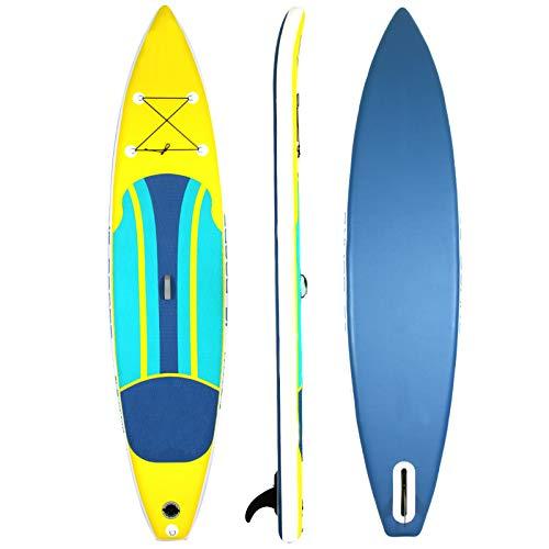 Tabla De Paddle Surf Hinchable,Unisex Tabla SUP Paddleboard Kit,Stand Up Paddle Board,15 CM De Espesor,Kayak,Almohadilla Integrada,Accesorios Completos,335 * 81 * 15Cm