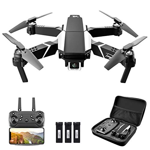 GoolRC S62 RC Drone con Cámara 4K WiFi FPV Cámara Dual Mini Quadcopter Plegable Juguete para Niños con Control de Sensor de Gravedad Modo sin Cabeza Parada de Emergencia Función de Video con Foto