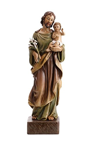 Avalon Gallery Patron Saint Joseph with Christ Child Resin Statue, 24 Inch