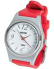 Seac Classic, Reloj Resistente al agua 100 mt, en acero inoxidable, Unisex adulto