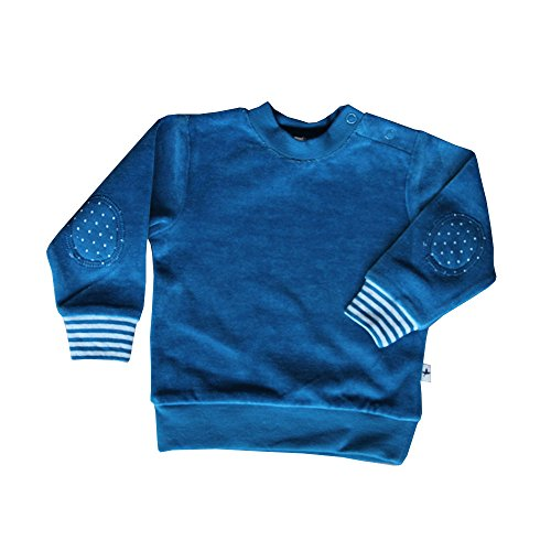 Leela Cotton Baby/Kinder Nicky-Sweatshirt aus Bio-Baumwolle saphirblau (62/68)