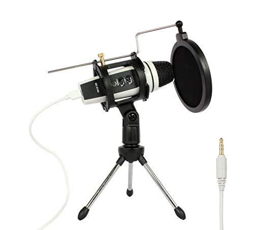 Check Out This Ouying Mini Condenser Microphone with Tripod and Pop Filter for Dj Ipad Computer Kara...