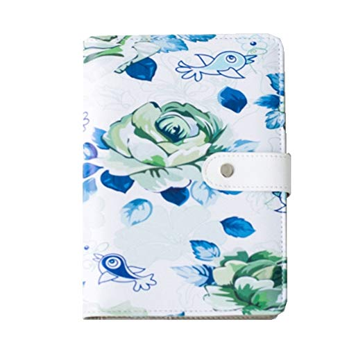 A5 PU Leather Loose Leaf Journal Notebooks with Lined,Grid,Weekly Plan Inner Pages, Refillable Binder Journal Travel Writing Journal Diary with Button, Journal for Women to Write in, 1 Pack