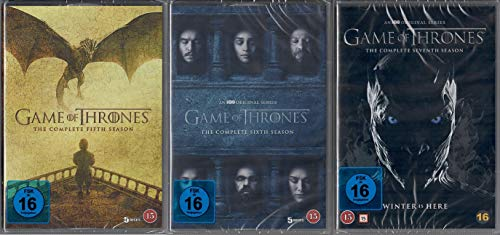 Game of Thrones Staffel 5-7 (5+6+7, 5 bis 7) [DVD Set] [EU Import mit Deutscher Sprache]