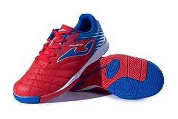 Joma Kids  Toledo Jr ID Indoor Soccer Shoes  8 Toddler Red/Royal