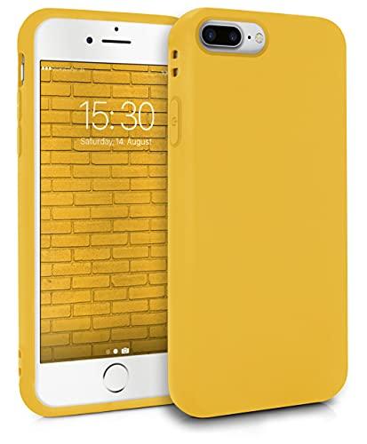 MyGadget Cover per Apple iPhone 7 Plus / 8 Plus - Custodia Protettiva in Silicone Morbido Case TPU Flessibile - Protezione Antiurto & Antigraffio - Giallo