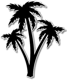 Palm Trees Vacation Tropical Vinyl Sticker - Car Window Bumper Laptop - SELECT SIZE