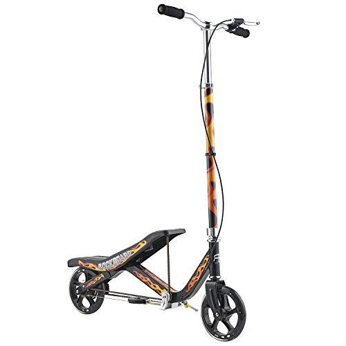 Rockboard RBX (Schwarz) Wipp-Roller mit Schwungrad, patentierter Wipp-Scooter mit Seilzug-Antrieb, für Kinder ab 6 Jahren & Erwachsene
