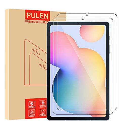 [2 Stück] PULEN Panzerglas Schutzfolie für Samsung Galaxy Tab S6 Lite 10.4 Zoll,9H Glas Bildschirm schutzfolie [Anti-Kratzen] [Bubble-frei][Fingerabdruck-frei] HD Klar folie