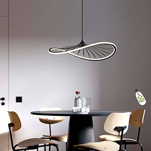 Lámparas LED Para Mesa de Comedor con Luz Colgante 58W Modernas Regulables con Control Remoto Lámpara Colgante De Altura Ajustable, Para Sala de Estar, Oficina, Comedor, Dormitorio, Estudio (Ø60CM)