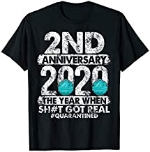 2nd Anniversary Together Since 2018 Couple Quarantine 2020 T-Shirt
