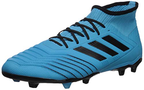 adidas Men's Predator 19.2 Firm Ground Soccer Shoe, Bright Cyan/Black/Solar Yellow, 9 M US