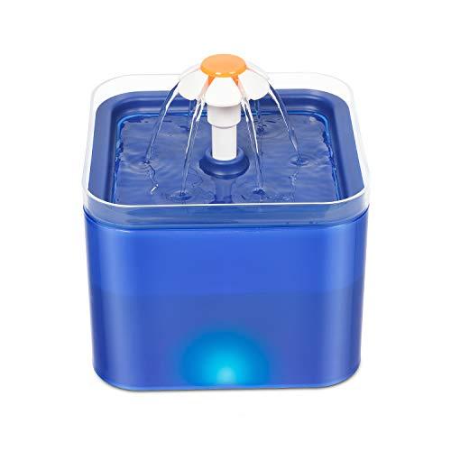 WOSHUAI Nuevo Dispensador De Agua Silencioso De Circulación Automática para Perros Y Gatos con Luces LED Y Filtros (Tres Modos, 2 litros),European Plug