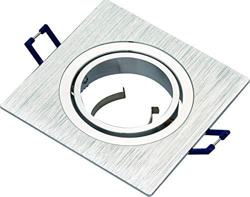 Support pour spot encastrable, orientable en aluminium brillant/satiné, 50 mm