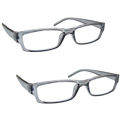 The Reading Glasses Company Gafas De Lectura Gris Ligero Cómodo Lectores Valor Pack 2 Estilo Diseñador Hombres Mujeres Uvr2Pk032Gr +2,00 2 Unidades 70 g