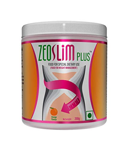 ZEON | ZeoSlim Plus | Clinically Tested Meal Replacement Powder Supplement Alternative Slim Shake for Weight Loss and Waist Slimming | Suitable for Vegans - Orange Flavor | 5gm Serving