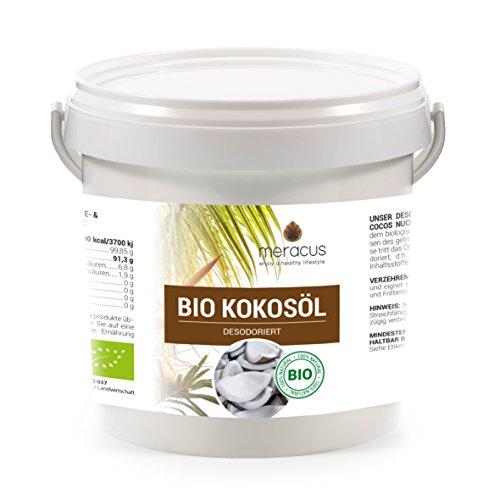 meracus Bio olio di cocco, sapore neutro (deodorato) in secchio, confezione da 1 (1 X 1 l)