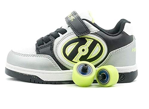 New Heelys Plus X2, Color, Talla (34 EU, Black and Silver)