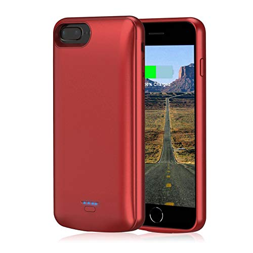 Battery Case for iPhone 6 Plus/6s Plus/7 Plus/8 Plus, JUBOTY 5500mAh Battery Charging Case Rechargeable Portable Backup Cover Battery Pack for Apple iPhone 6p/6sp/7p/8p (5.5'') Charger Case