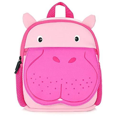 Mochila Preescolar Dibujos Animados Mochila Infantil NiñA 3-6 Aligera La Carga Mochila Infantil NiñO 3-6 Respirable Mochila NiñO 4 AñOs Anti-Perdida Hippopotamus