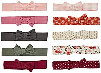 Hudson Baby Unisex Cotton and Synthetic Headbands Fall Floral 0-24 Months