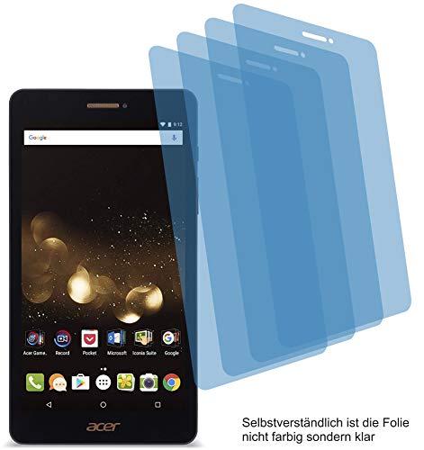 4ProTec I 4X Crystal Clear klar Schutzfolie für Acer Iconia Talk S A1-734 Bildschirmschutzfolie Displayschutzfolie Schutzhülle Bildschirmschutz Bildschirmfolie Folie
