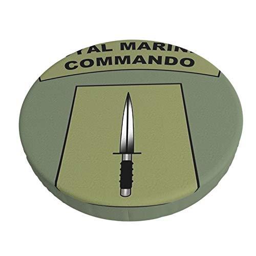 Royal Marines Commando Flash - Funda de cojín para silla de bar, transpirable, lavable, funda de asiento elástica para taburete de 45,8 cm