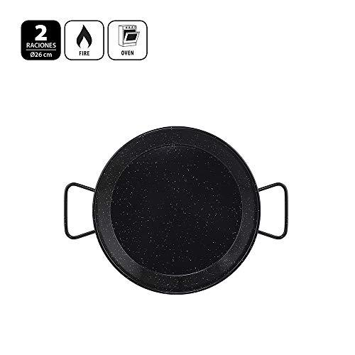 Metaltex - Paellera Acero Esmaltado 2 Raciones 26 cm