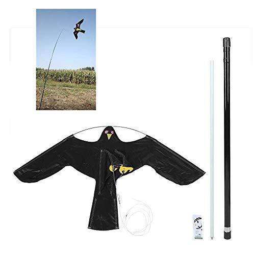 AILZNN Verteidiger Falke Drachen, Vogelvertreiber Erweiterbar Flying Hawk Bird Scarer Drachen Mit 7m Teleskopstange