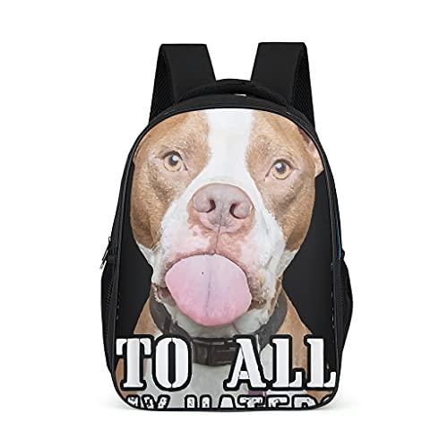 Mochila escolar para niños pequeños 'An alle alle meine Hasser Bulldog francés, mochila para niños, mochila para libros, mochila impermeable, mochila de senderismo con bolsillos laterales