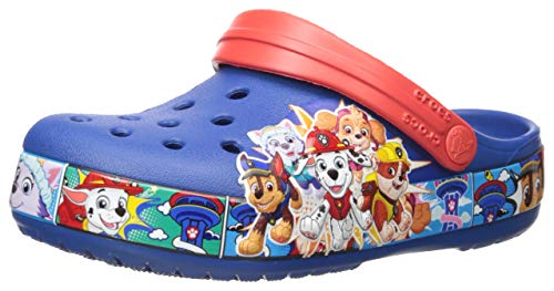 Crocs Unisex-Kinder Fun Lab Paw Patrol Band Clogs, Blau (Blue Jean 4Gx), 32/33 EU